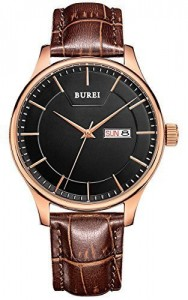 BUREI® Men's BM-13001-P05ER Day and Date Watch Review