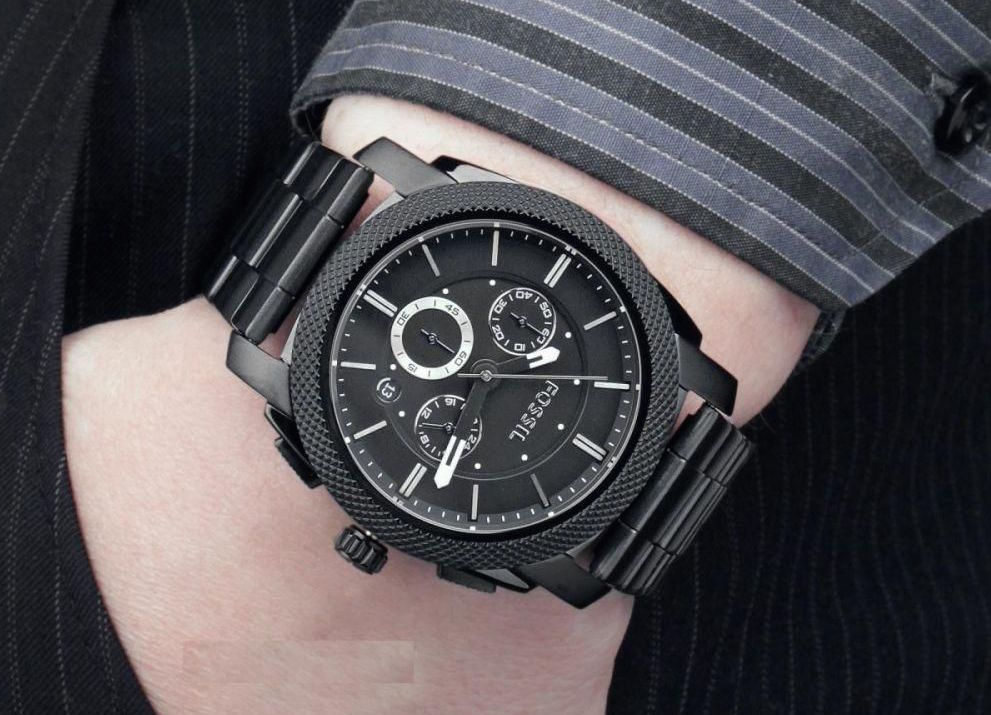 Fossil FS4552 Machine Black Chronograph Watch Review