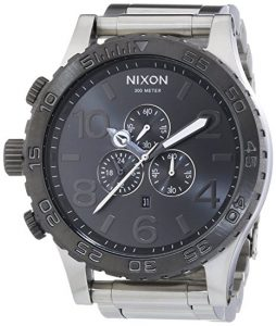 Nixon A083-1762 Mens The 51-30 Chrono Silver Gunmetal Watch Review