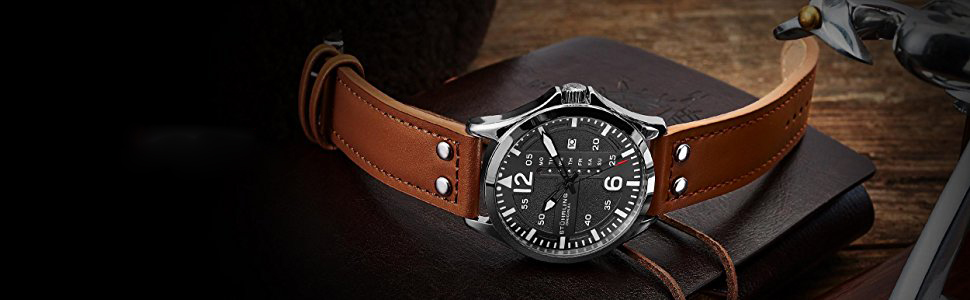 Stuhrling Original Men's 699.02 Aviator Quartz Watch Review