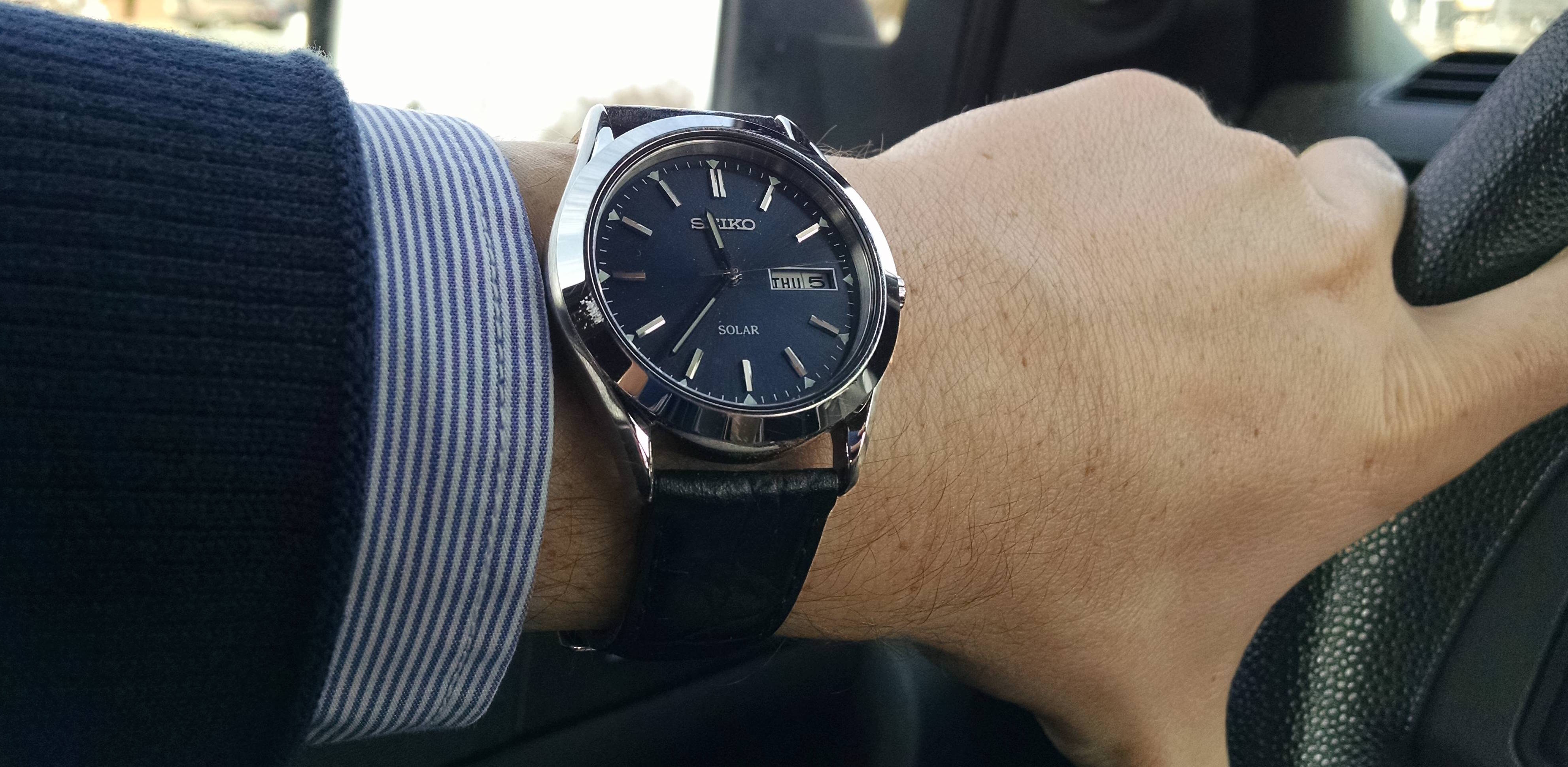 Seiko SNE049 Stainless Steel Solar Watch Review