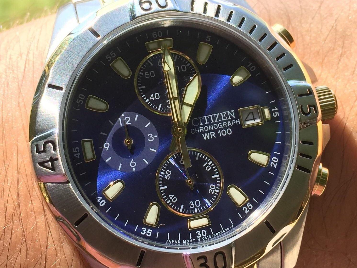 Citizen AN3394-59L Two-Tone Chronograph Watch Review