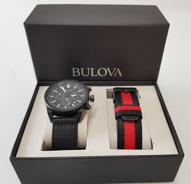 Bulova 98B280 Black IP Chronograph Watch Review