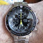 Seiko Men's SNA411 Flight Alarm Chronograph Watch Review