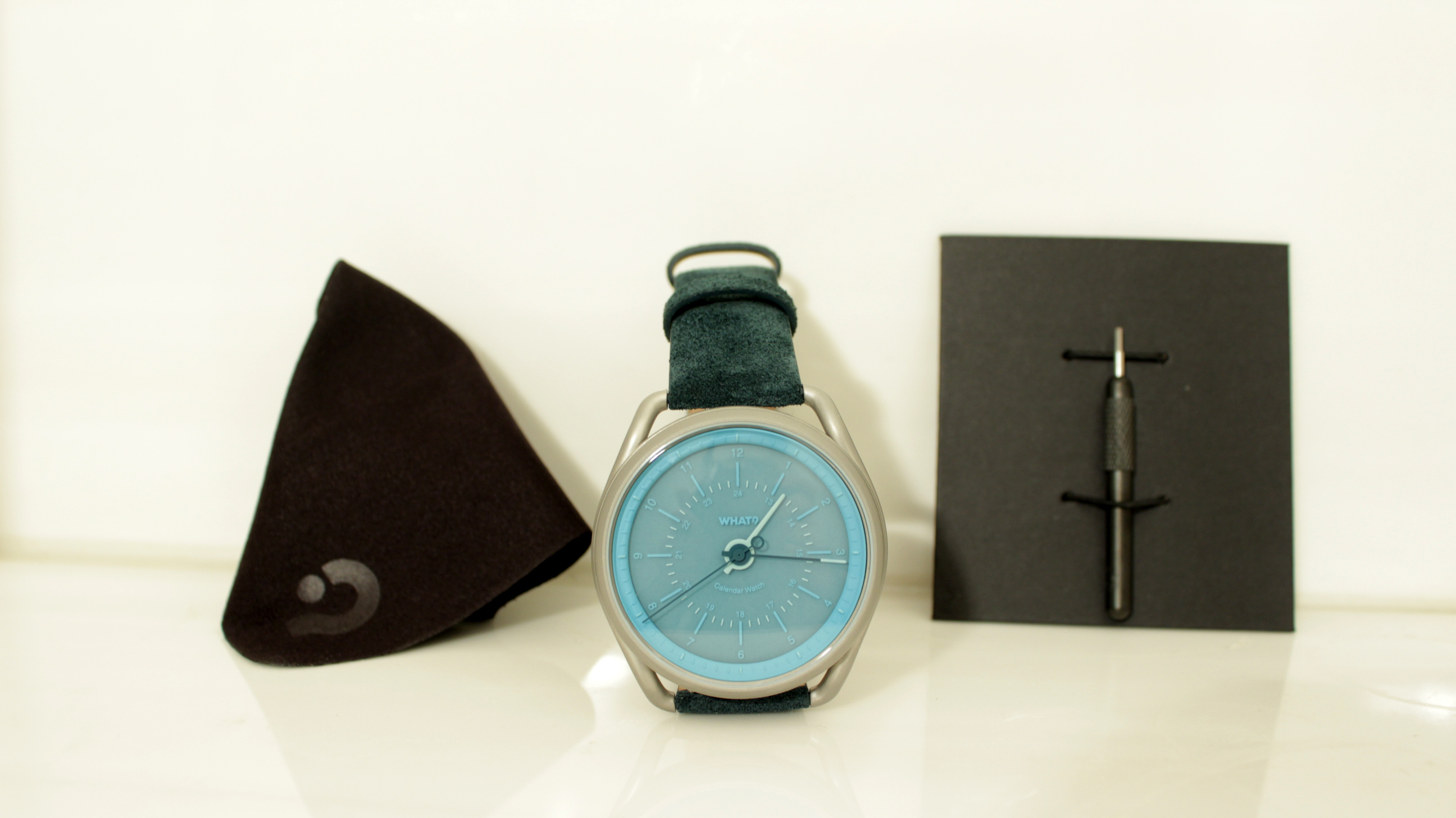 What? Calendar Watch Aqua Review