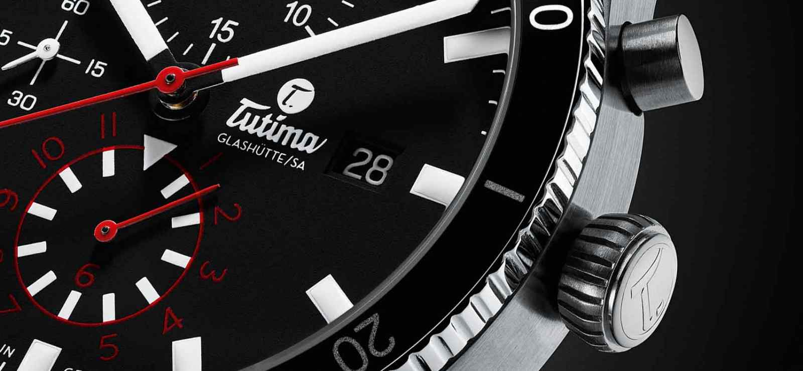 Tutima 6401-01 Dial Close Up