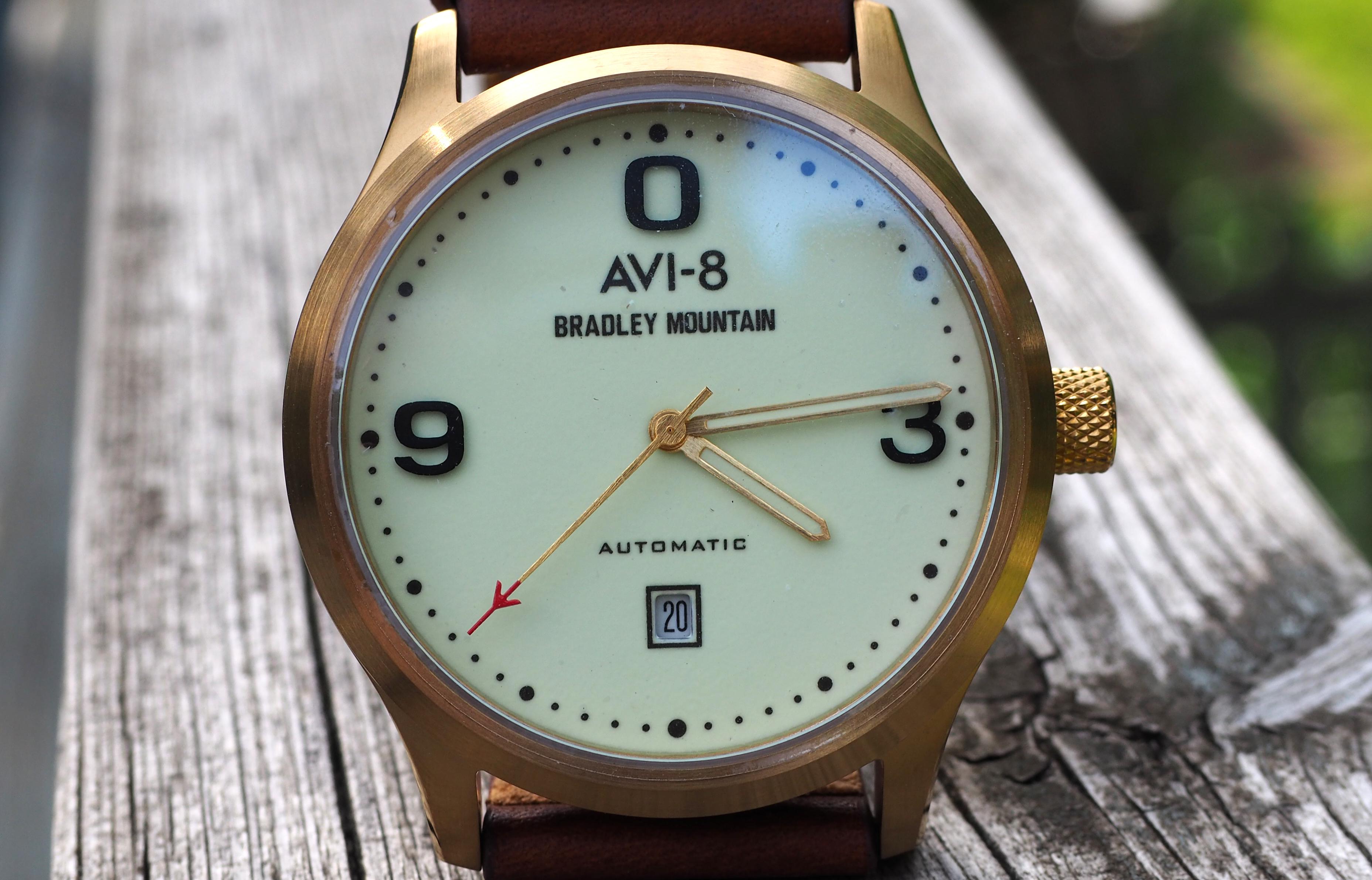AVI-8 X Bradley Close Up Of Dial