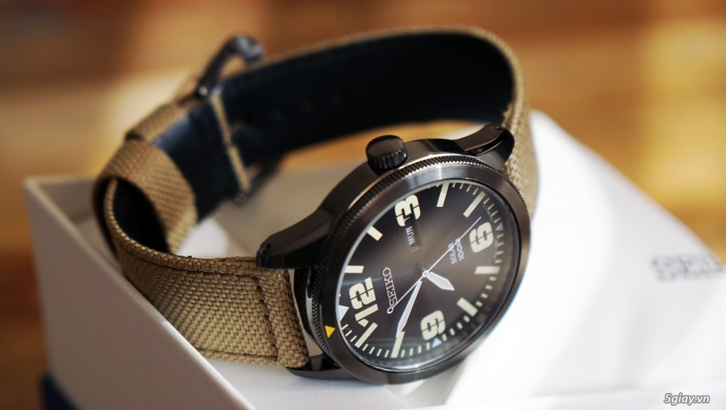 Watch on the side and strap