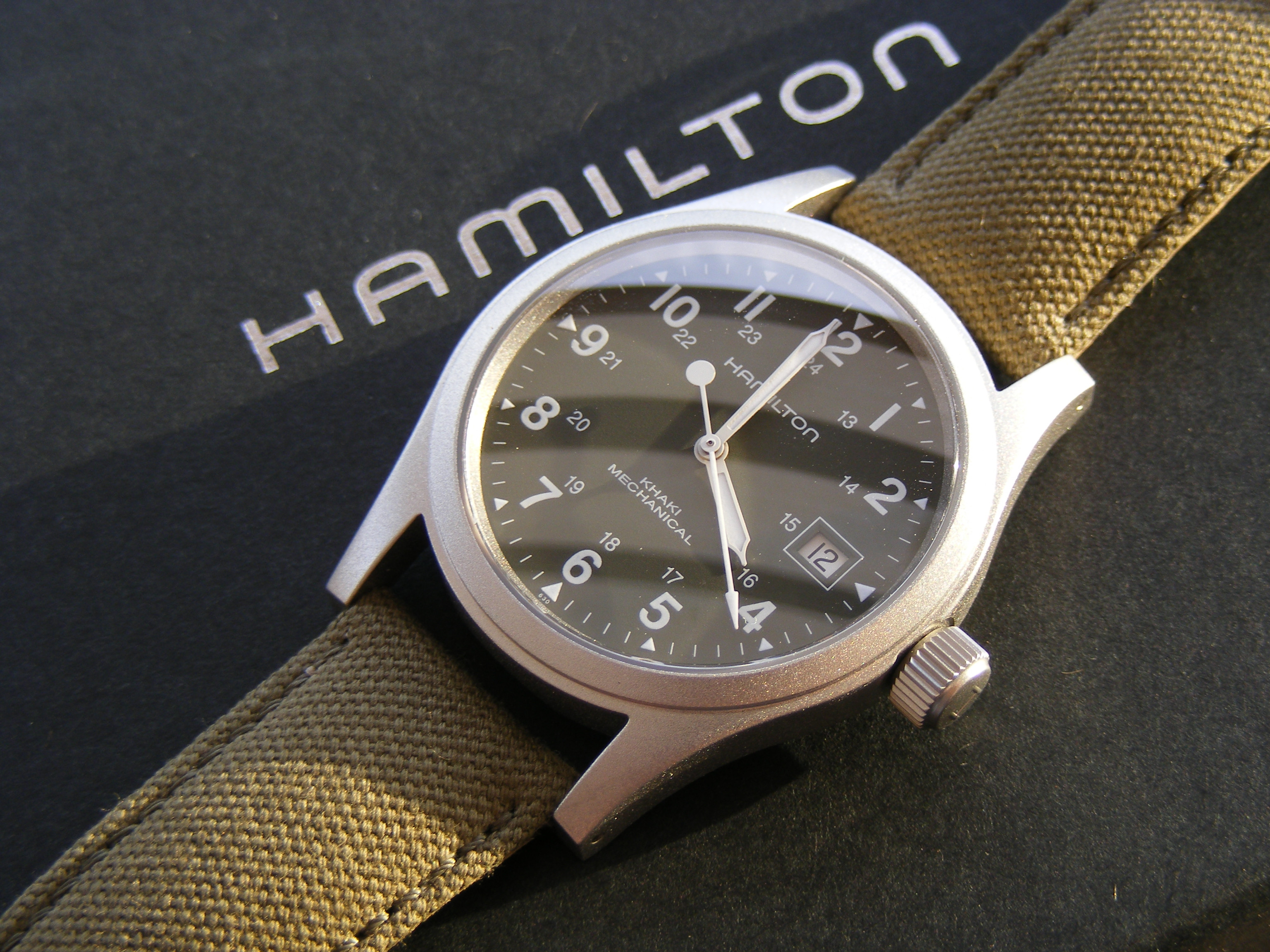 watches on comments khaki r canvas strap hamilton field a new