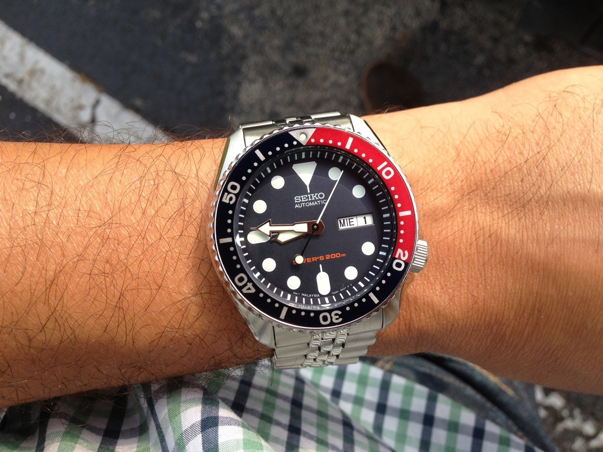 seiko on the wrist