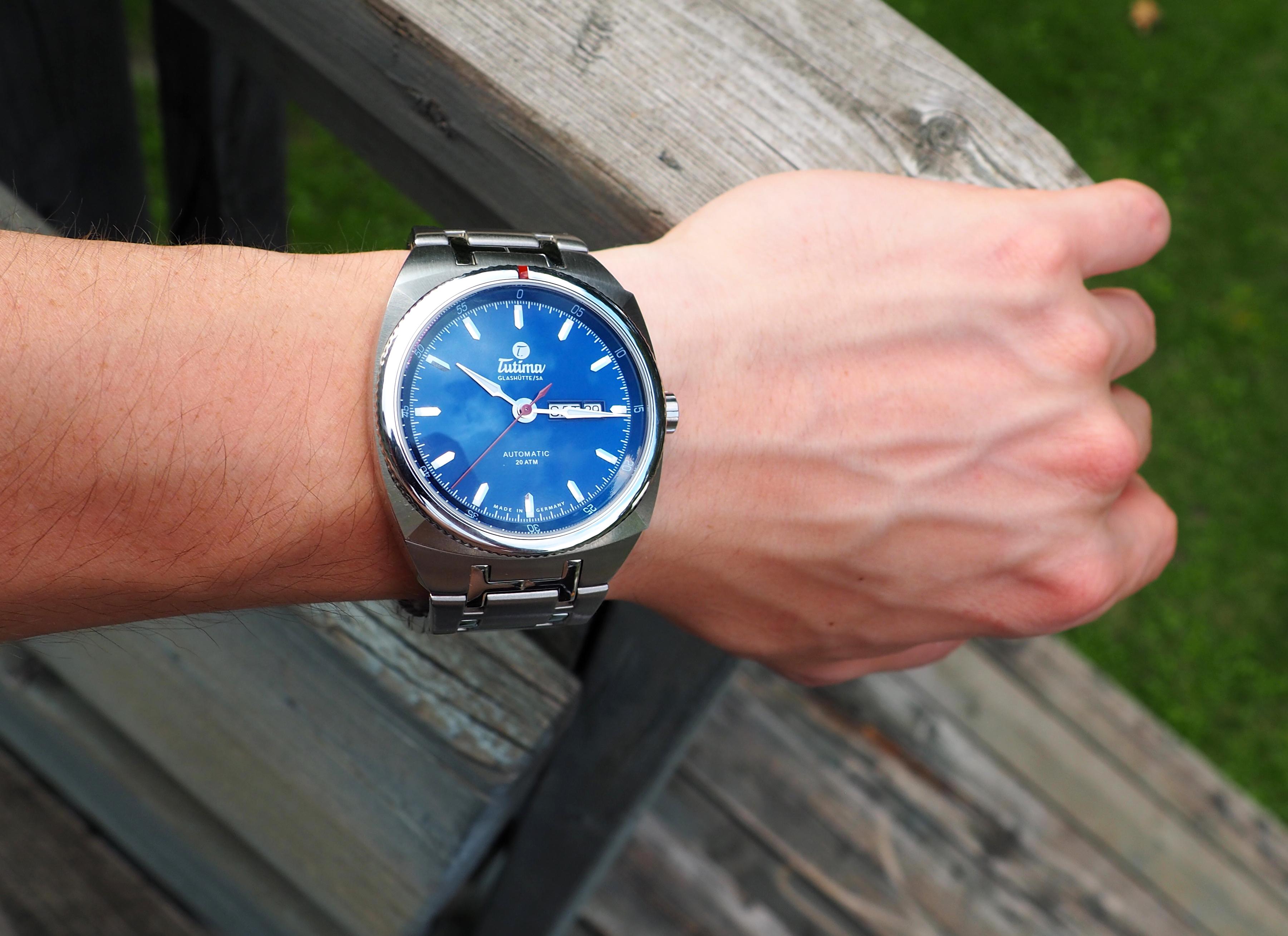 Saxon on wrist