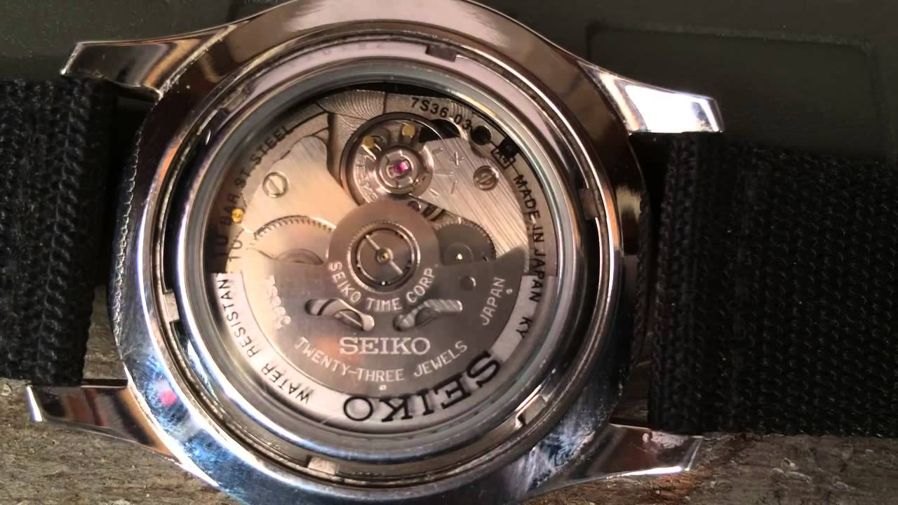 7S36 movement from case-back