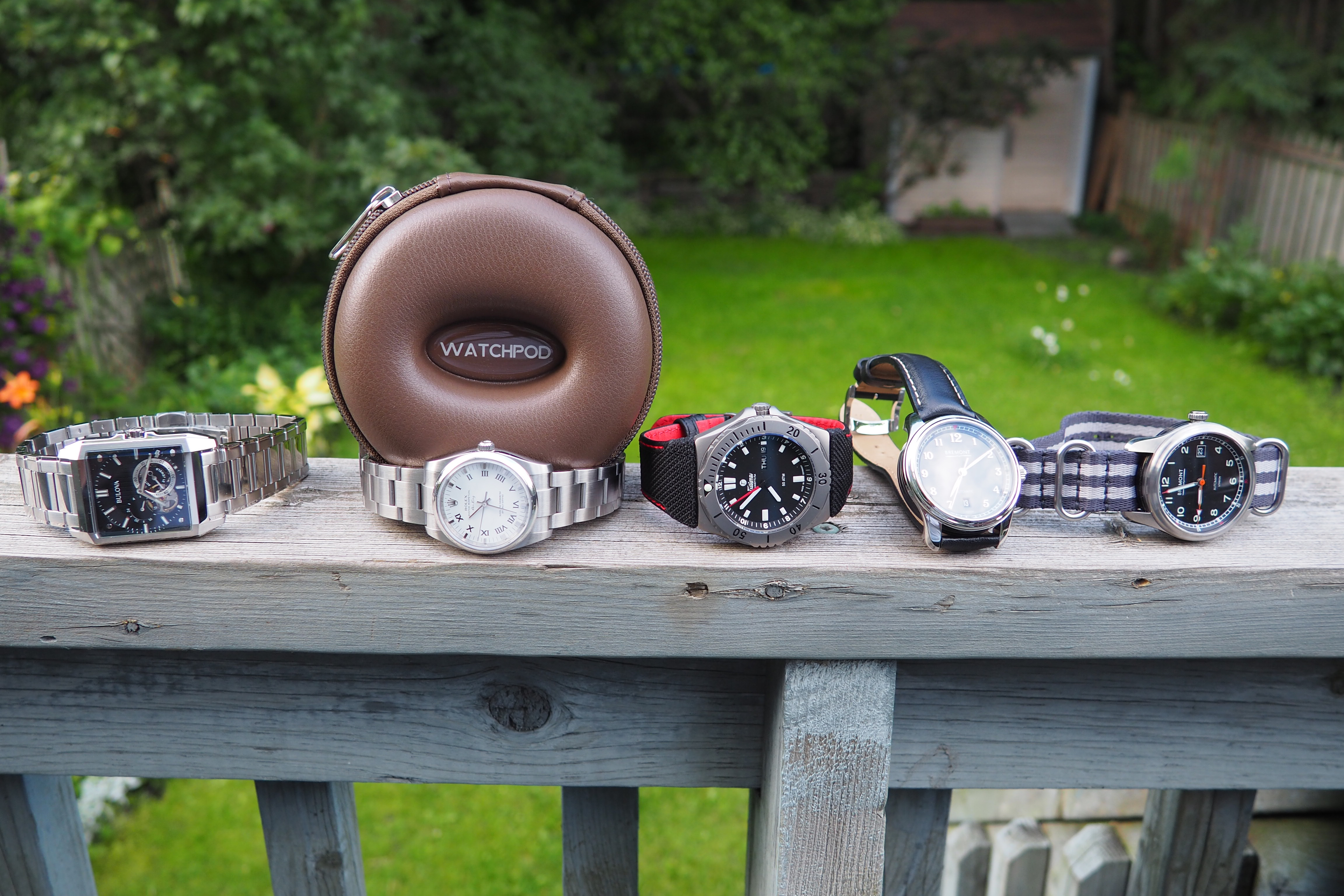watchpod with some watches