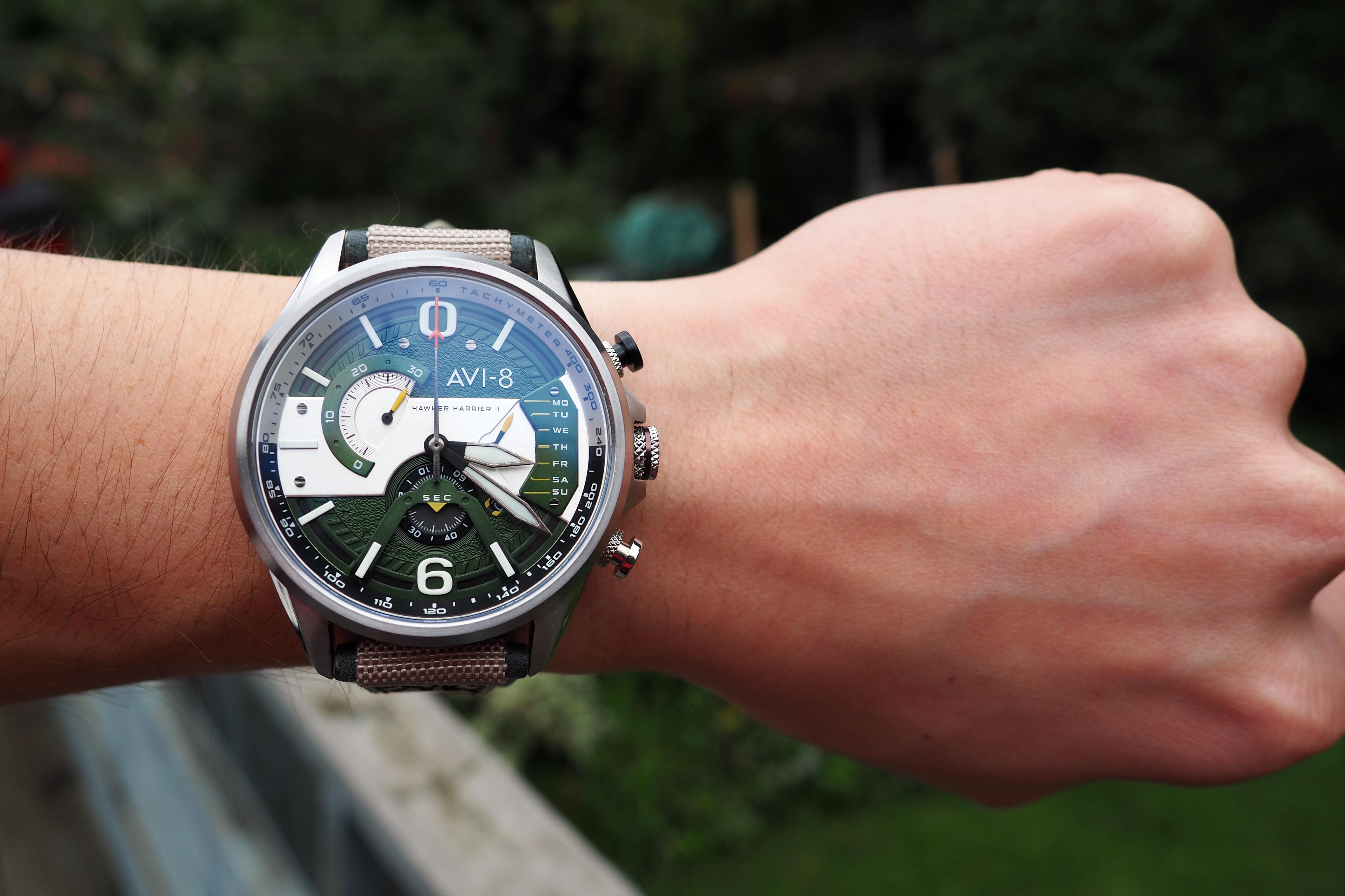 avi-8 on the wrist