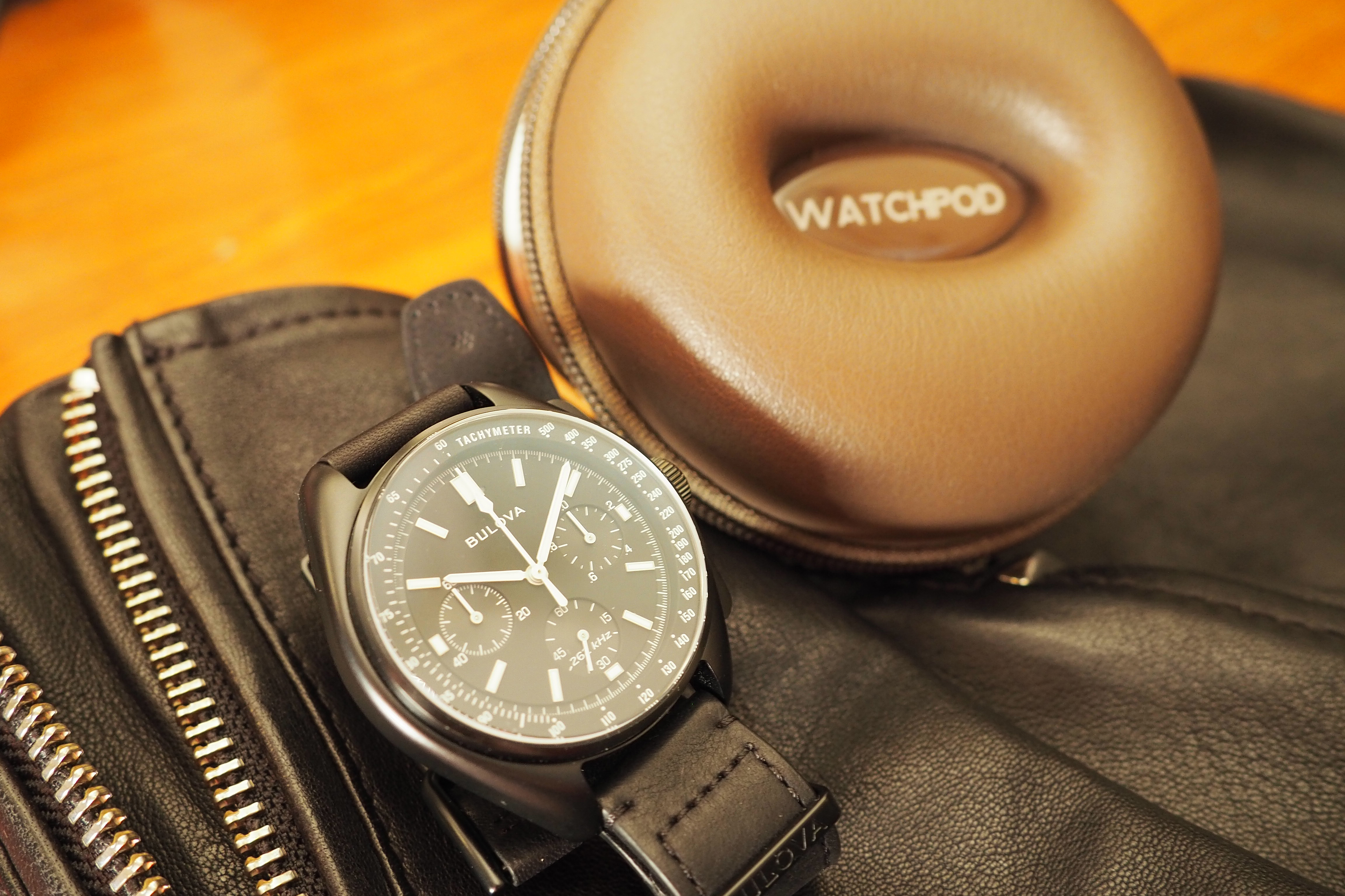On leather jacket with WatchPod