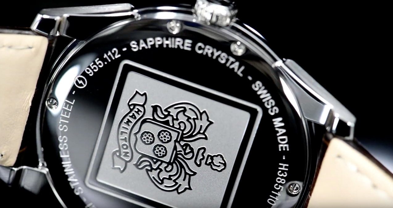 Movement and case back engraving