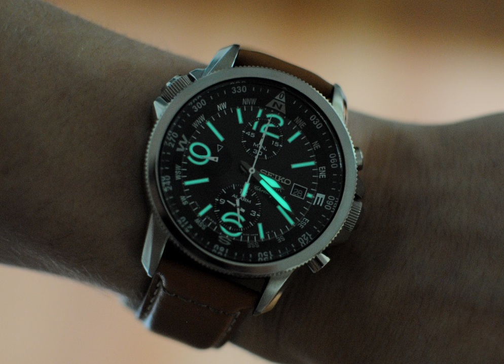 SSC081 black dial with lume