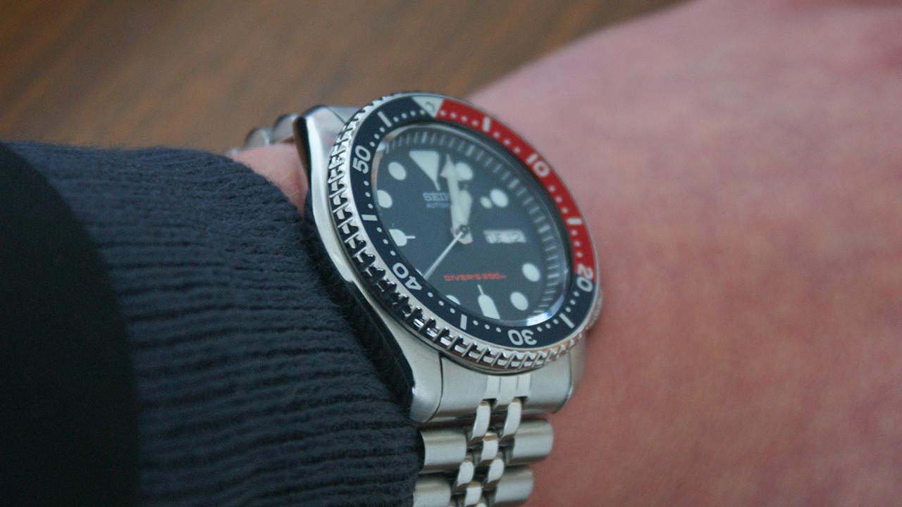 SKX009K1 on wrist