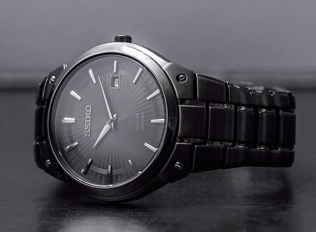 Seiko SNE325 Black Ion Solar Watch Review