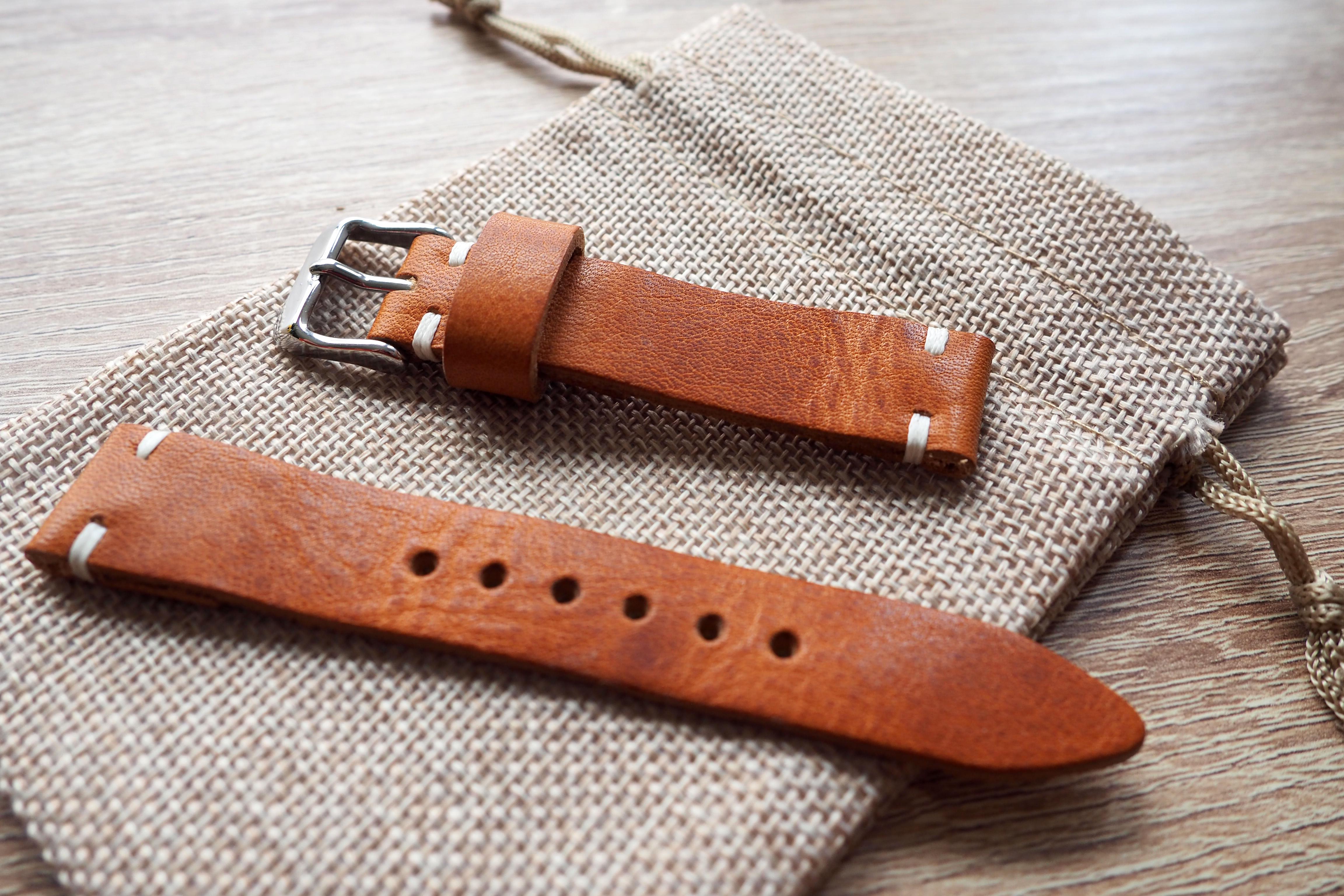 vibrant tan colored strap
