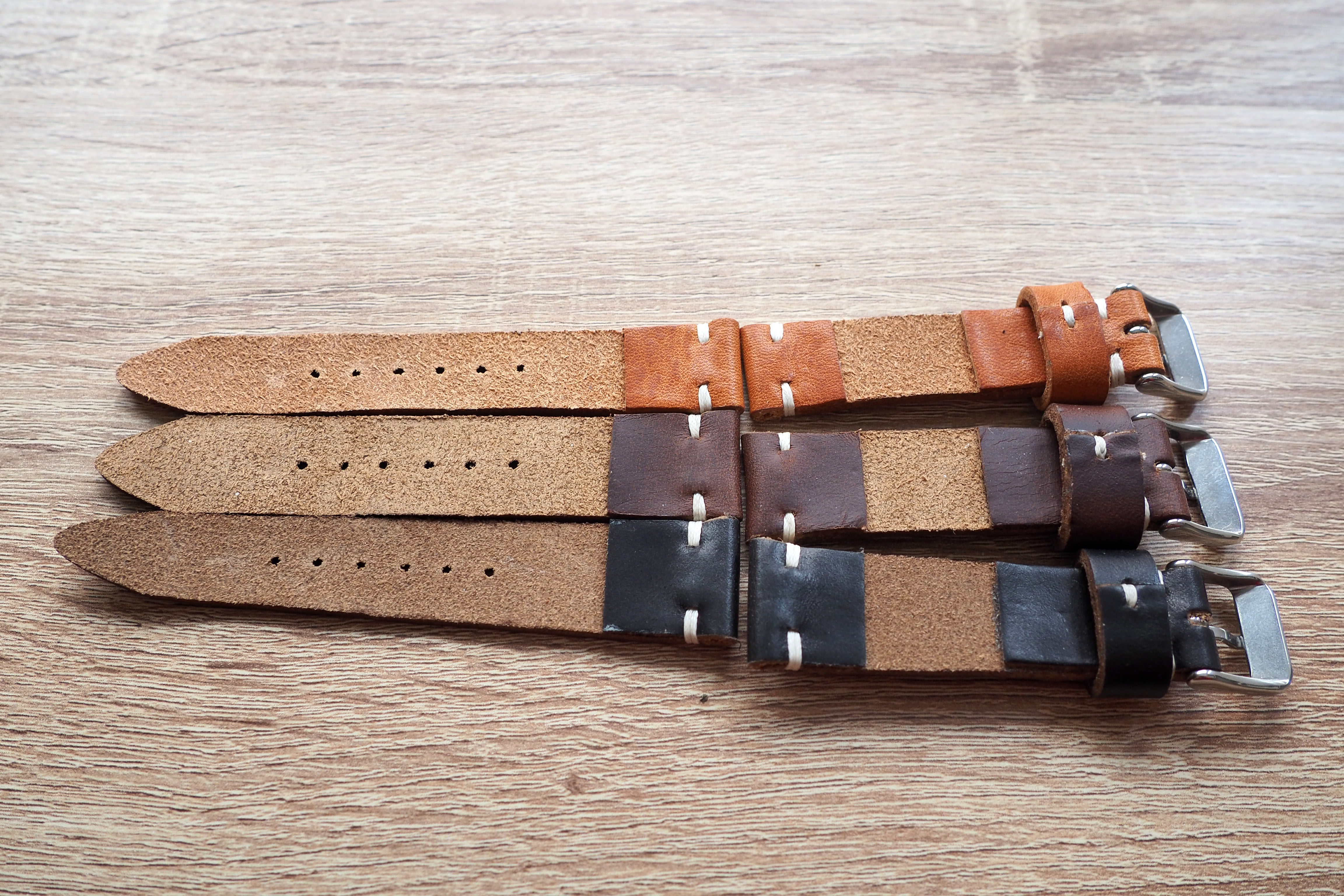 under side of the straps