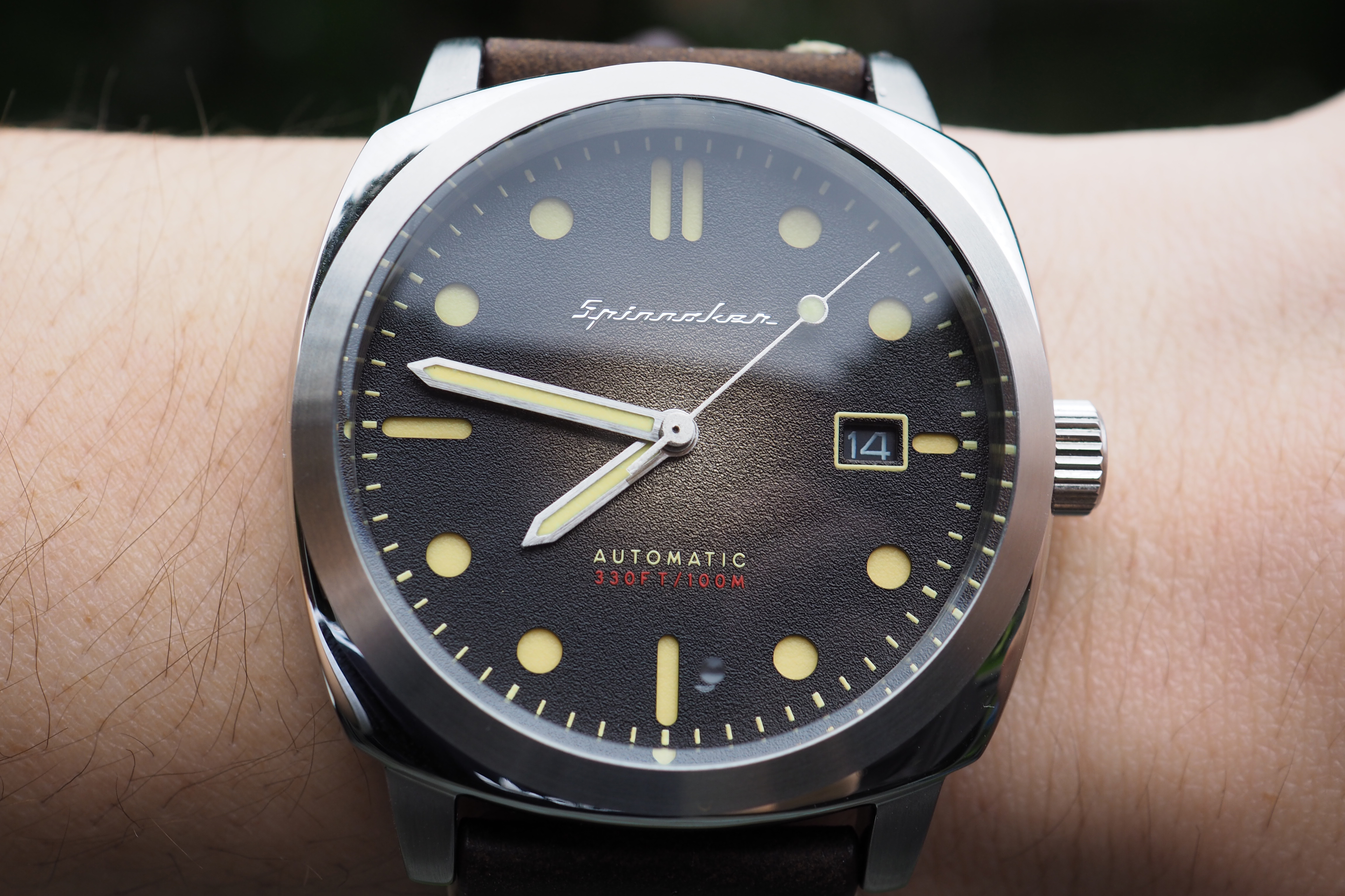 Hull dial on wrist