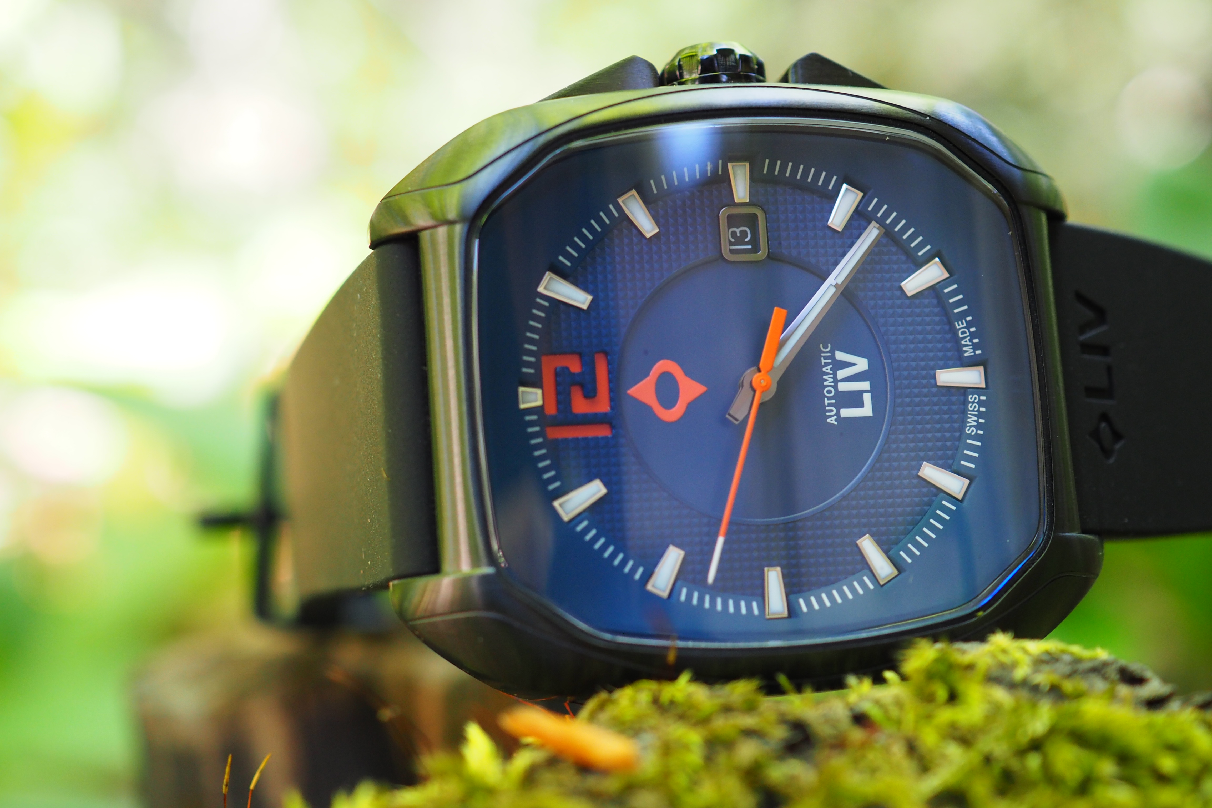 LIV Rebel-A Black IP Automatic Blue Dial Watch Review