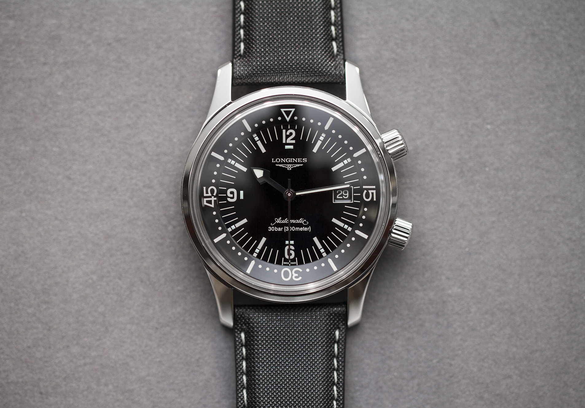 Straight on dial with date