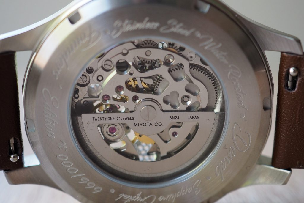 Mechanical watch accuracy diagram