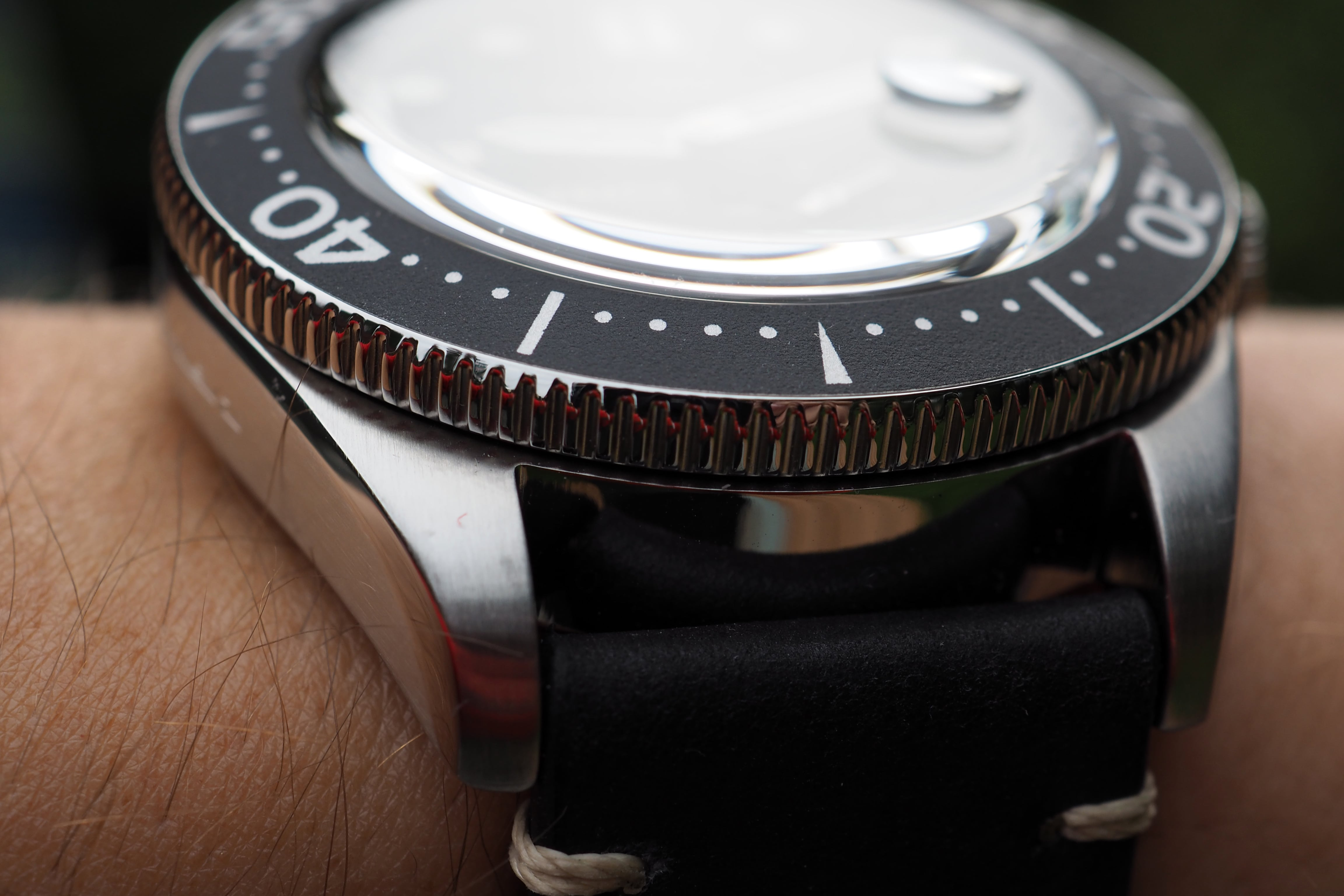 Coin edged bezel and lugs