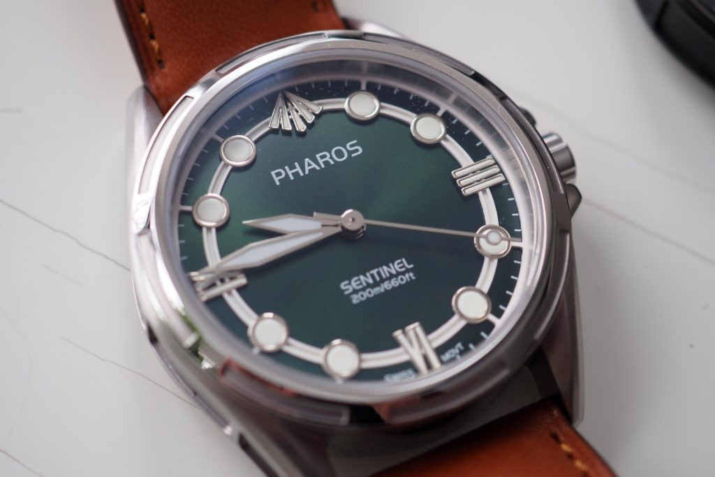 Another angle green dial