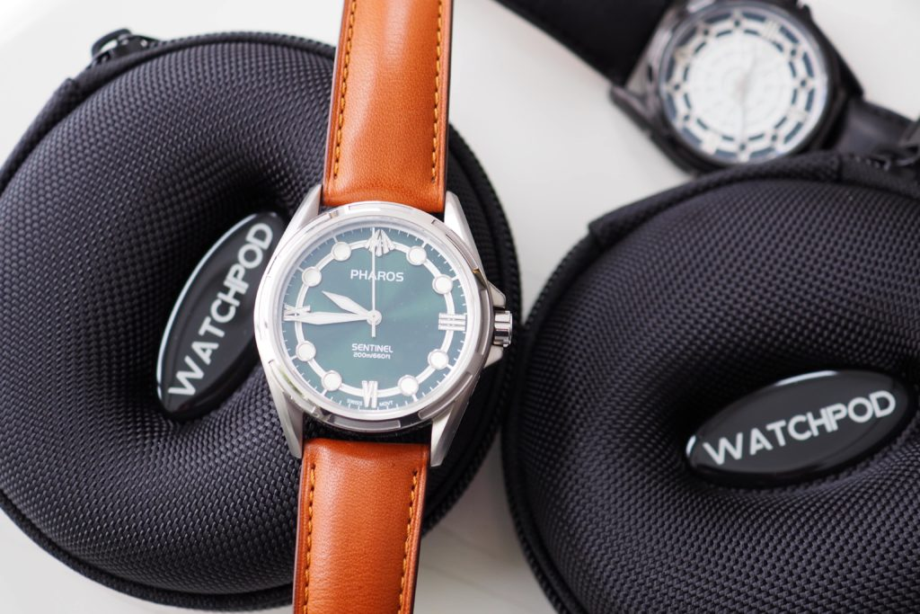 Watchpod travel cases with Pharos Sentinel