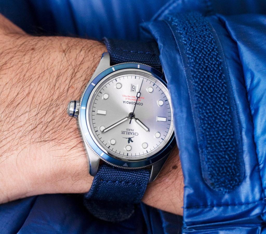 Silver Concordia dial on wrist