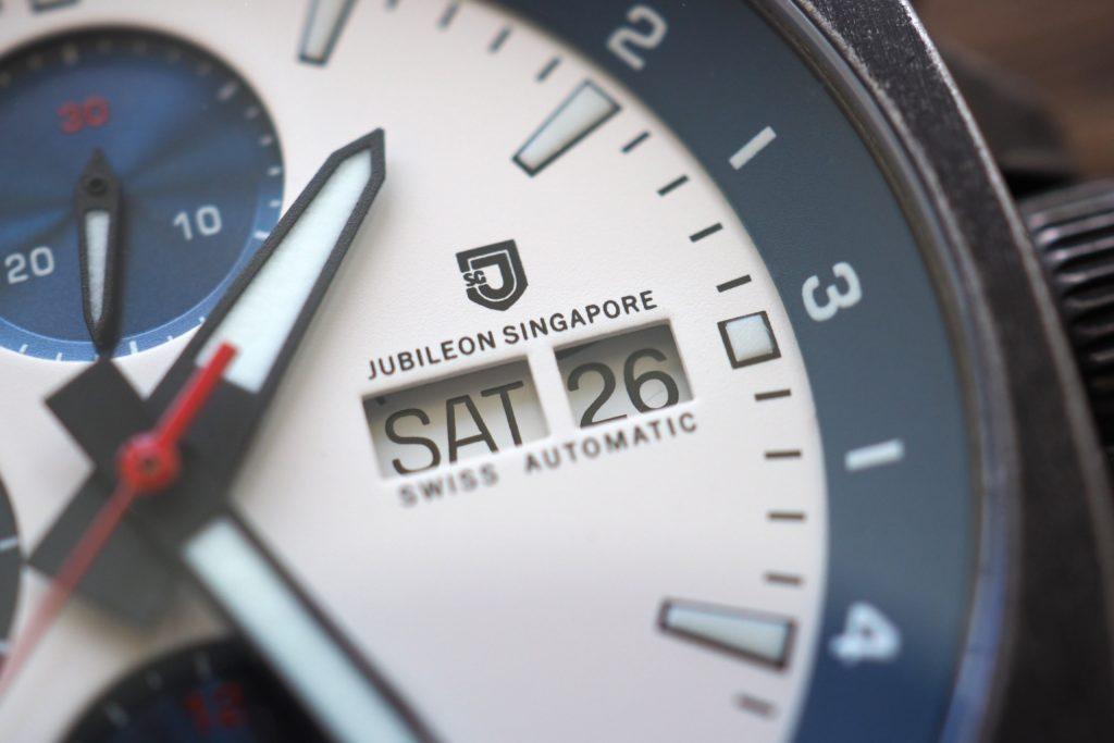 Macro of logo and date