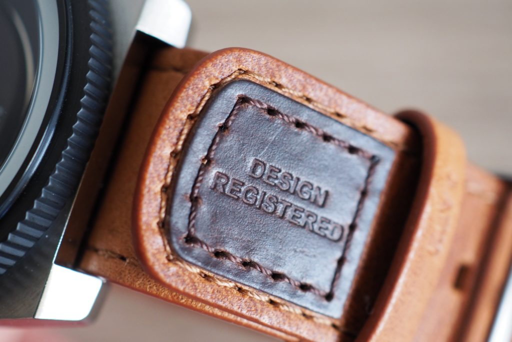 Leather strap embossed