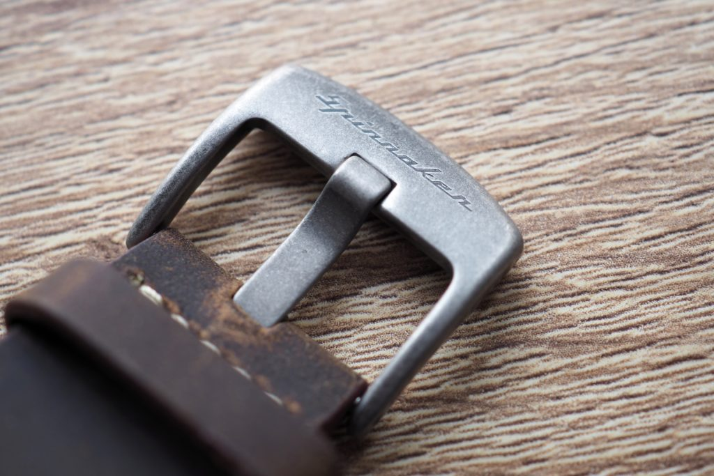 Buckle and leather strap photo