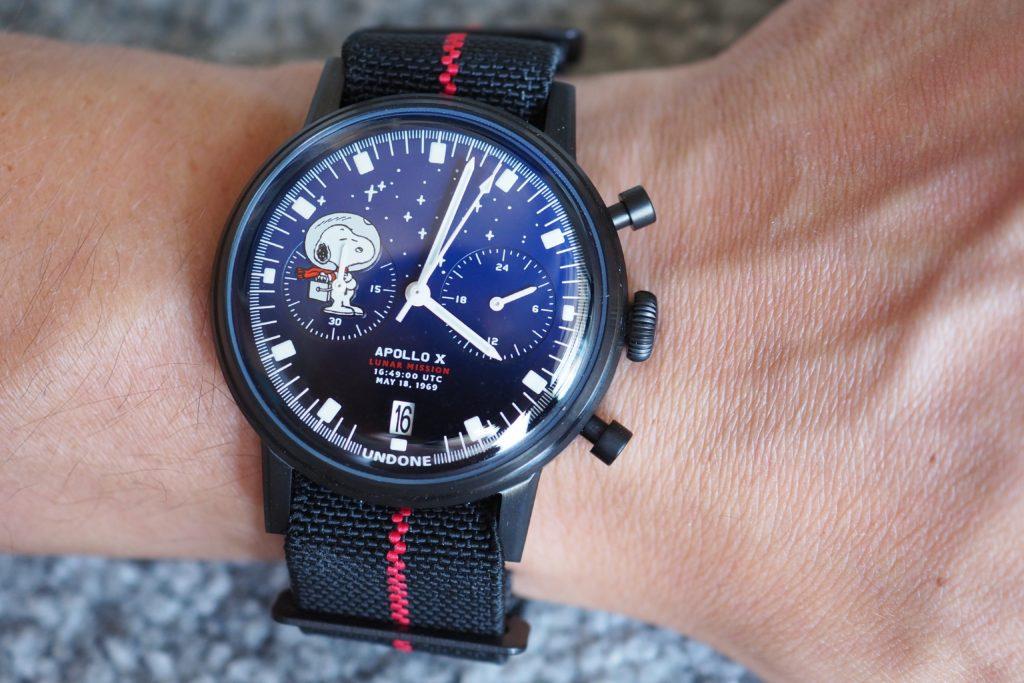 Undone Snoopy Starlight on the wrist