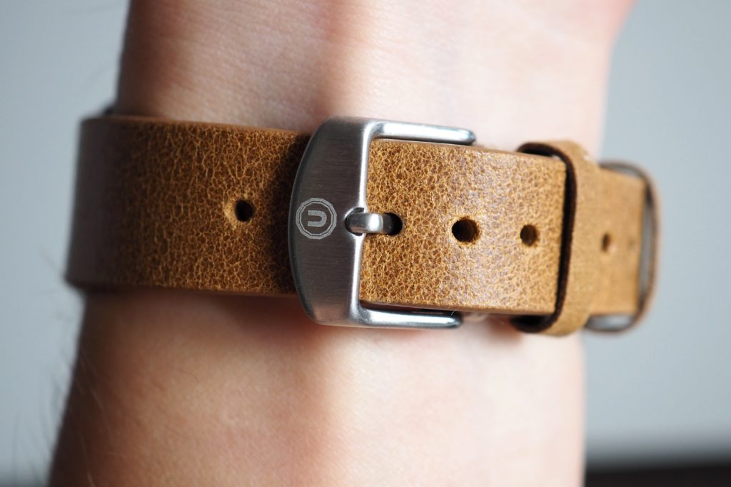 Leather band and buckle