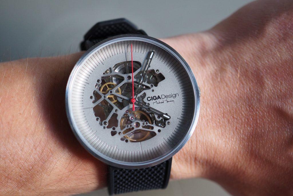 Skeleton dial on wrist