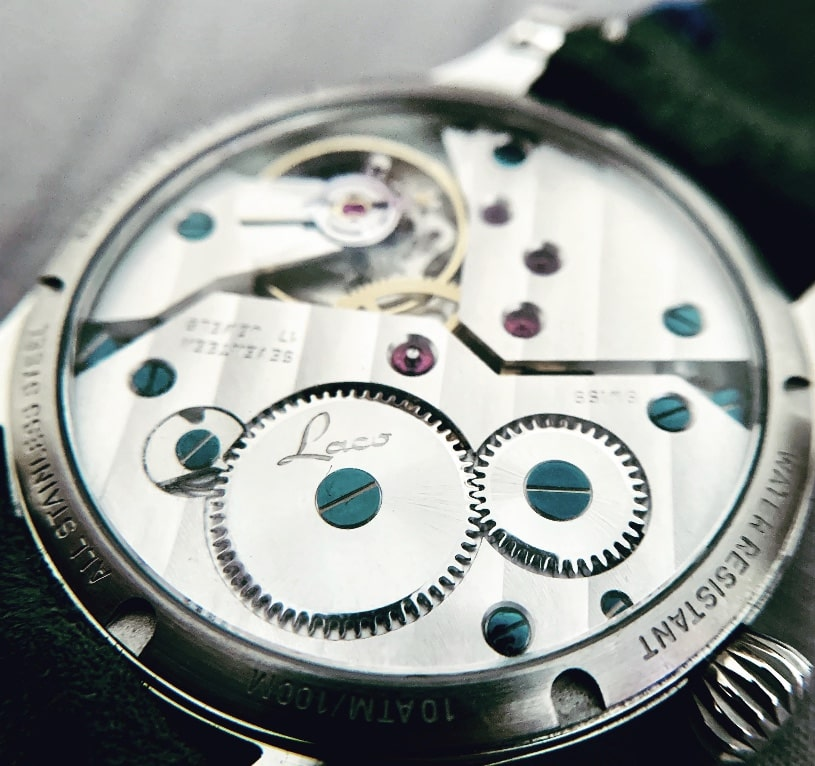 ETA movement viewed from case back