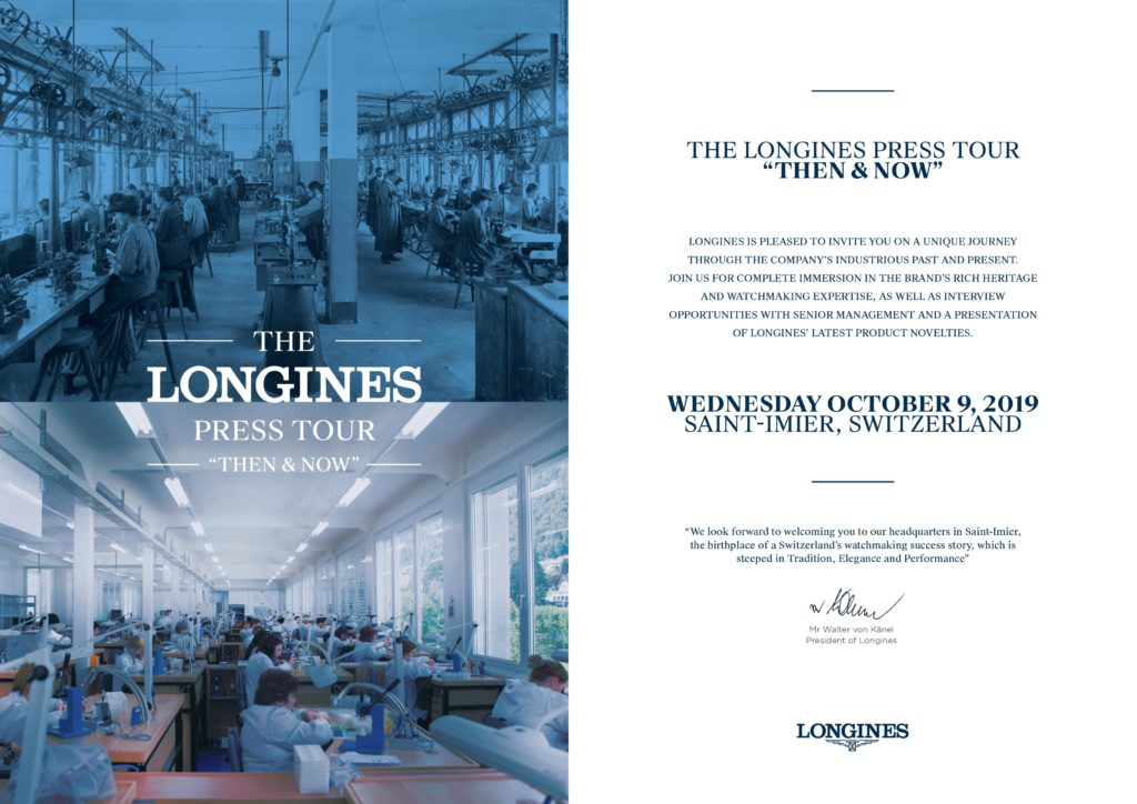 Longines press invite