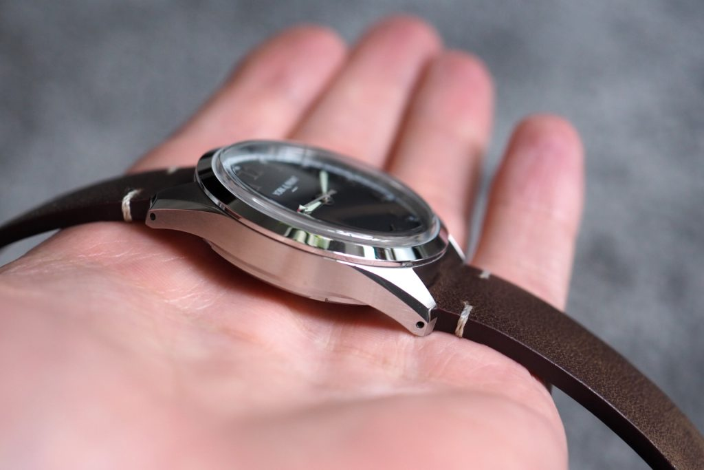 Watch in palm of hand