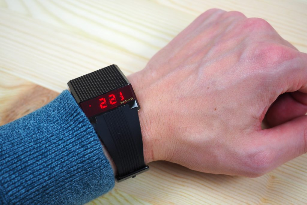 Digital display on wrist