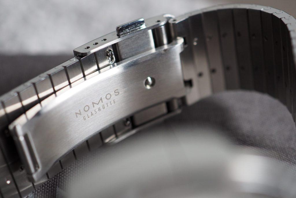 Nomos metal bracelet clasp