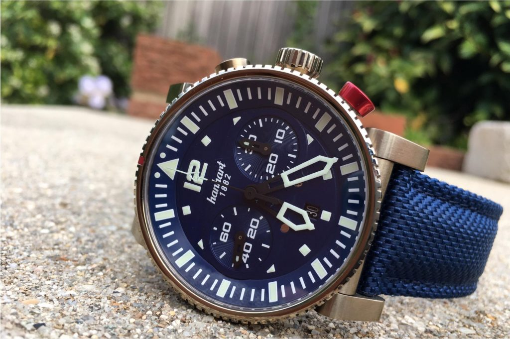 Watch on the side with edged bezel