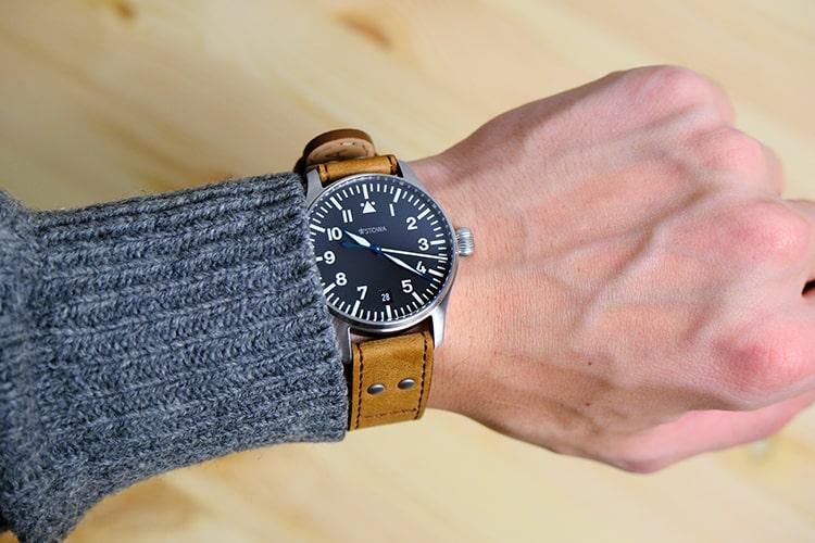 Flieger 36 on wrist photo