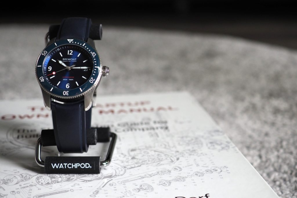 Bremont on the WATCHPOD display stand