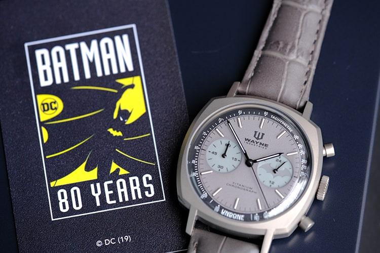 Dark Knight watch with warranty card