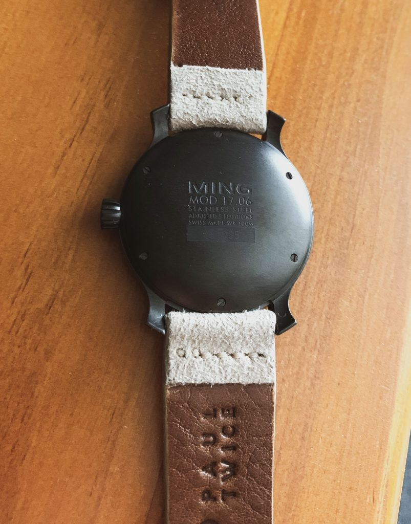 Strap attached to Ming watch
