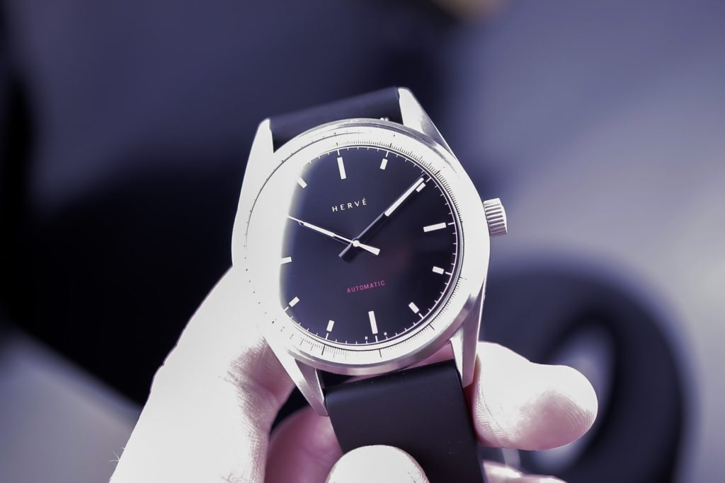 Contrasty watch in hand photo